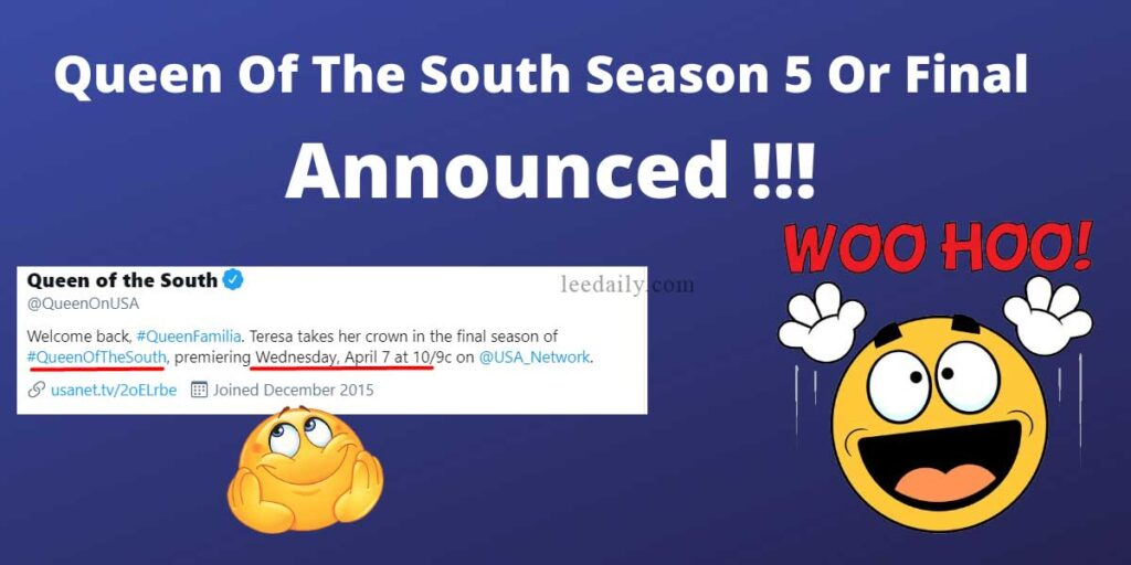 Queen Of The South Season 5, Queen Of The South Season 5 Release Date, Queen Of The South Season 5 Trailler, Queen Of The South Final season